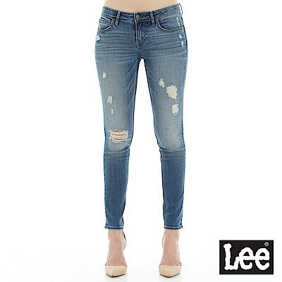 Lee 牛仔褲 418低腰緊身窄管牛仔褲- 女款-淺藍