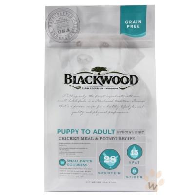 柏萊富blackwood 無穀全齡犬 低敏純淨配方(雞肉+豌豆)15磅