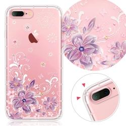 YOURS APPLE iPhone7 Plus 奧地利彩鑽防摔手機殼-紫羅蘭