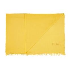 Alviero Martini 義大利地圖 素面水鑽LOGO絲巾-黃(70X200)