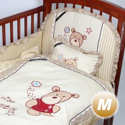 Yip Baby KUMA 3M嬰兒床專用周邊配件八件組-M(120 x 60 cm)