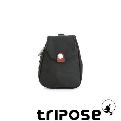 tripose 漫遊系列迷彩印花鑰匙零錢包 -黑