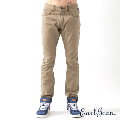Earl-Jean-低腰合身窄管卡其褲-深卡其-男
