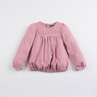 PIPPY 蕾絲印花上衣 粉紅