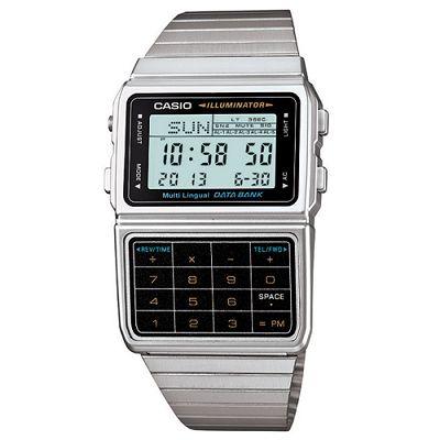 CASIO 復古經典數位計算機錶(DBC-611-1A)-銀色/44.2mm