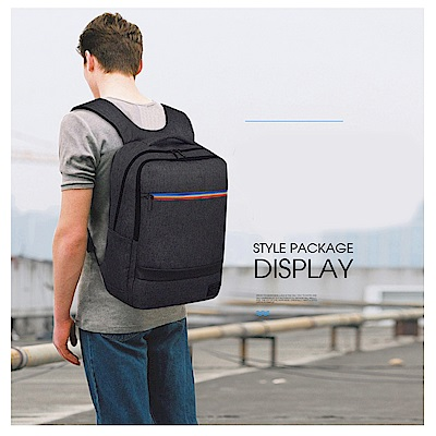 leaperTUGUAN 防盜防潑水USB充電電腦後背包 共2色