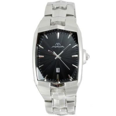MAYA 凝結時光魅力時尚腕錶-黑/28x34mm