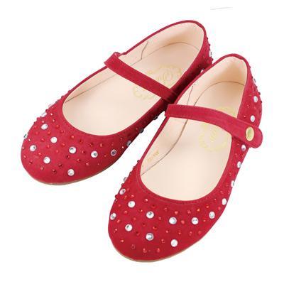Swan天鵝童鞋-華麗水鑽公主鞋 3725-紅