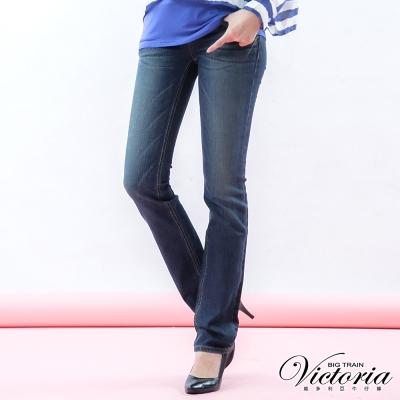 Victoria Victoria美臀直筒褲-女-中深藍