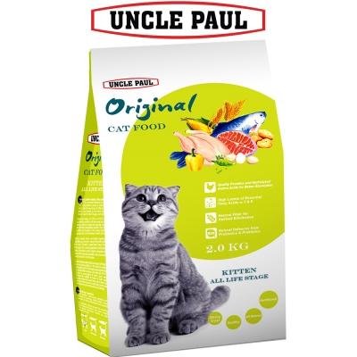UNCLE PAUL 保羅叔叔田園生機貓食 2kg 幼貓 全齡用