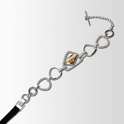 黛安芬-亮彩水晶飾品繞頸肩帶-光耀黃
