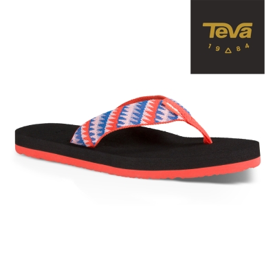 TEVA 美國 女 MUSH 經典織帶夾腳拖 (珊瑚橘)