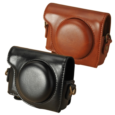 Kamera兩件式皮質包for Canon G9 X