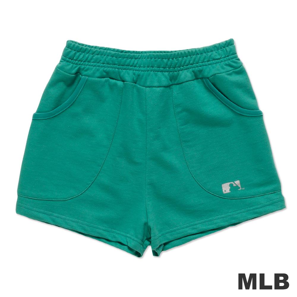 MLB-美國職棒大聯盟印花休閒短褲-藍綠(女)