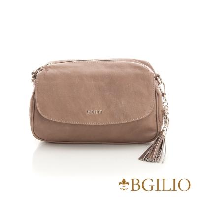 義大利BGilio-義大利水洗羊皮魅力肩背包-杏色 2281.001-06