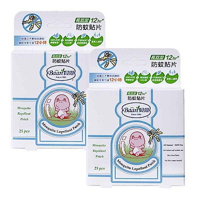 【買1送1】【德國貝恩 Baan】嬰兒防蚊貼片25片裝