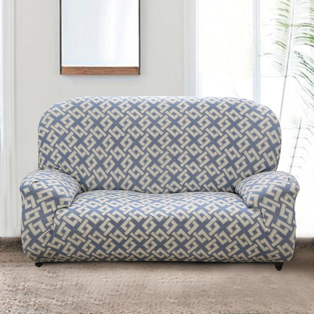 歐卓拉 藍田玉生彈性沙發套2人座