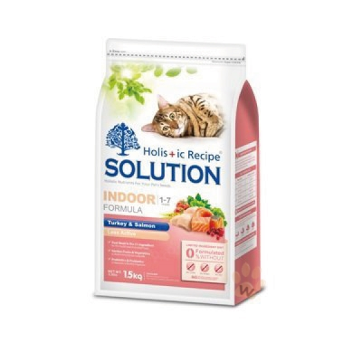 SOLUTION耐吉斯寵物食譜-成貓 居家/纖體配方 鮮火雞肉+鮭魚1.5kg