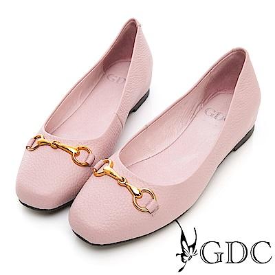 GDC-真皮歐美大方簡約設計感包鞋-粉色