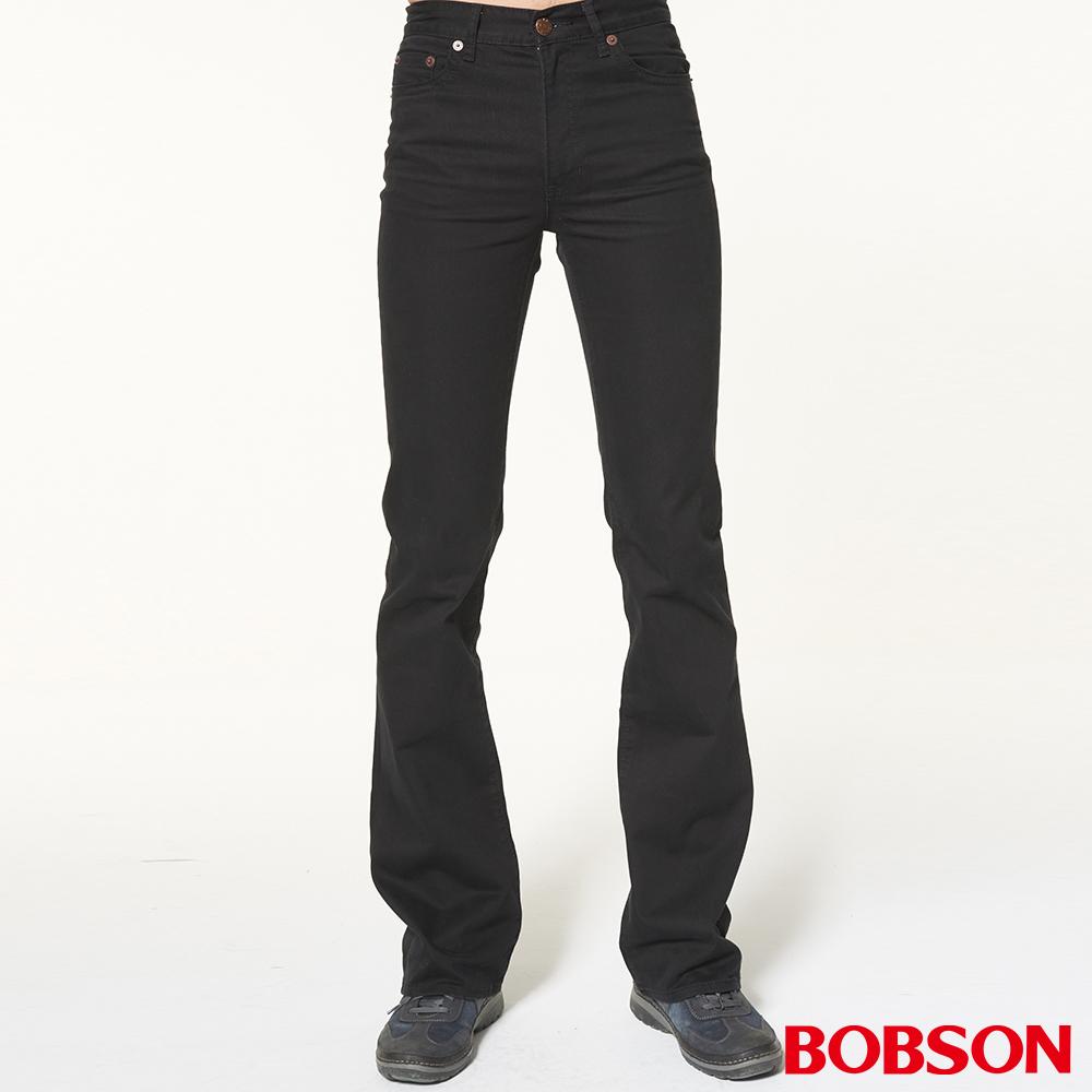 BOBSON 男款低腰黑色喇叭褲