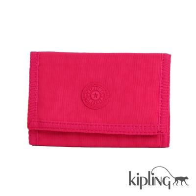 Kipling 零錢包 桃紅素面-小