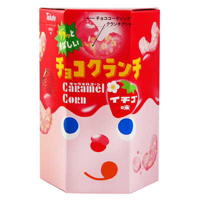 東鳩-焦糖玉米脆果-草莓-40g