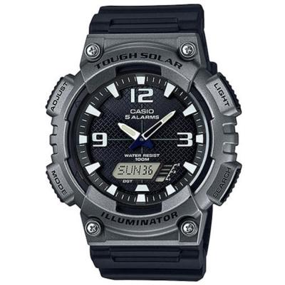 CASIO 新一代光動遊俠雙顯運動錶(AQ-S810W-1A4)-黑x鐵灰框/52mm