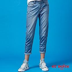 ETBOITE 箱子 BLUE WAY 冰絲輕薄5oz男友褲-淺藍