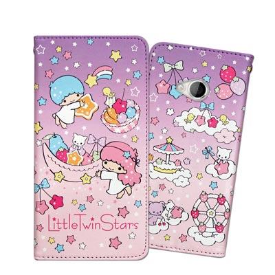 三麗鷗 KIKILALA HTC U Play 甜心彩繪磁扣皮套(星星樂園)