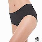 zuzai 自在膠原蛋白中腰女三角內褲-黑色