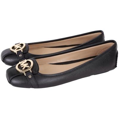 Michael Kors Fulton 防刮牛皮休閒平底鞋(黑色)