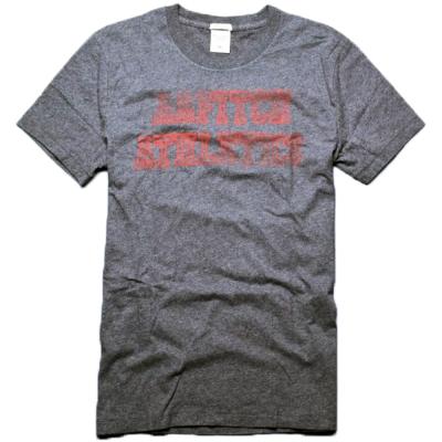 A&F Abercrombie & Fitch 休閒仿舊印花圓領短袖T恤-灰