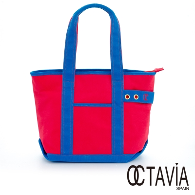 OCTAVIA 8 - EASY系列 雙彩帆布 SUPER TOTE包 - Spider紅
