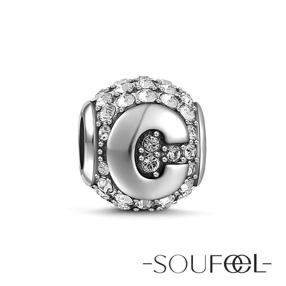 SOUFEEL索菲爾 925純銀珠飾字母 C 串珠