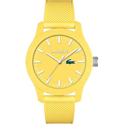 Lacoste 12.12系列撞色活力時尚腕錶-黃/43mm