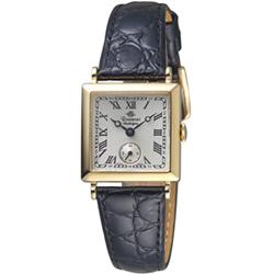 Rosemont 玫瑰錶 戀舊系列時尚腕錶-白x金框/23x23mm