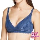 哺乳內衣 孕期內衣 巴黎香榭無鋼圈哺乳內衣(深藍) Mamaway
