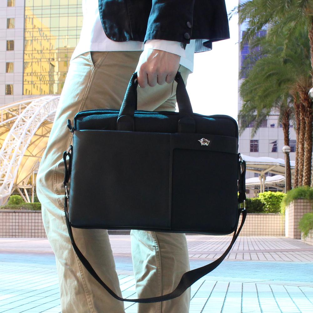 DRAKA 達卡 - 都會防潑水系列 兩用牛皮筆電公事包