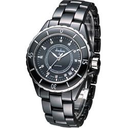 Diadem 黛亞登 F4 時尚陶瓷腕錶-黑/39mm