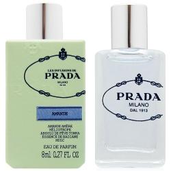 PRADA 杏仁精粹淡香精8ml+隨機針管香水一份