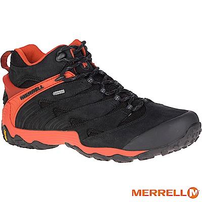 MERRELL CHAMELEON7MIDGTX登山男鞋-黑橘(98281)