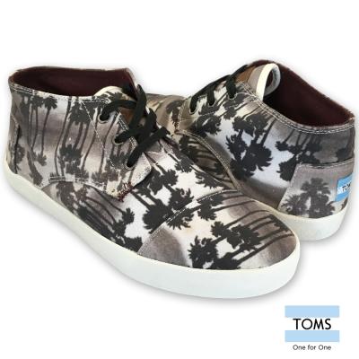 TOMS 棕櫚高筒休閒鞋-男款(黑)