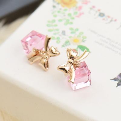 微醺禮物 水鑽 鍍K金 愛的禮物 耳環