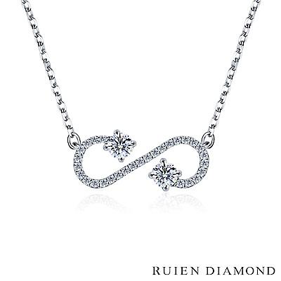 RUIEN DIAMOND 輕珠寶系列28分 14K白金鑽石項鍊