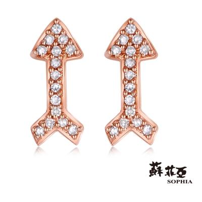 蘇菲亞SOPHIA 耳環-心的方向鑽石耳環(共2色)