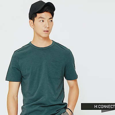 H:CONNECT 韓國品牌 男裝-舒適感小口袋上衣-綠