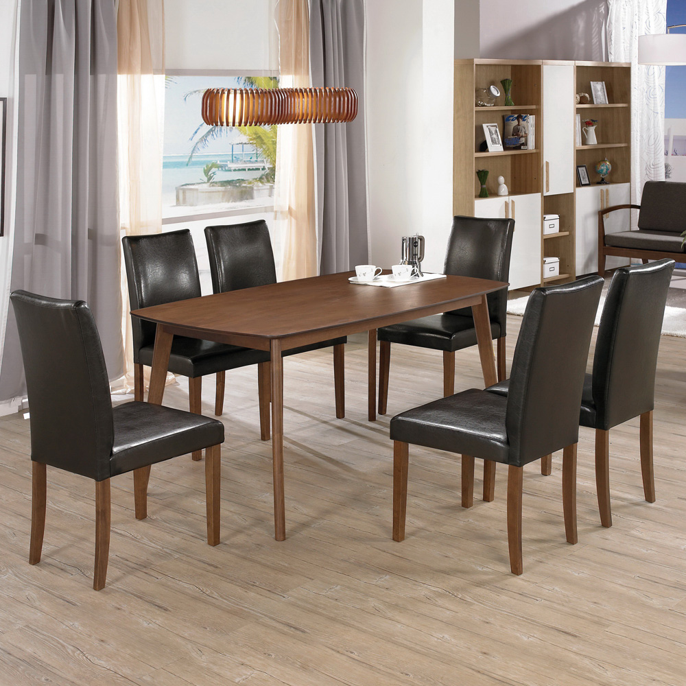 Bernice-貝莎時尚現代餐桌椅組(一桌四椅)150x90x75cm