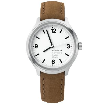 MONDAINE 瑞士國鐵設計系列腕錶-白/34mm
