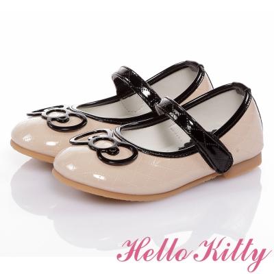 HelloKitty 高級手工超纖皮輕量減壓娃娃童鞋-米色