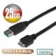 曜兆DIGITUS USB3.0 A 公轉micro B公線*25公分 product thumbnail 1